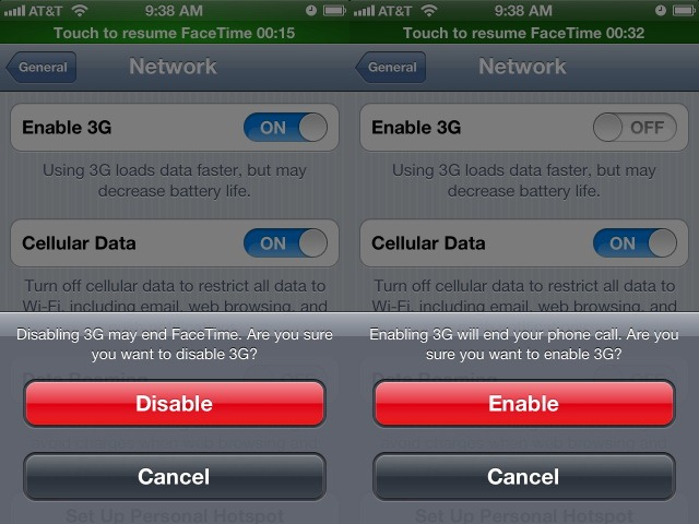 iOS 5.1.1 da semne de Facetime pe 3G