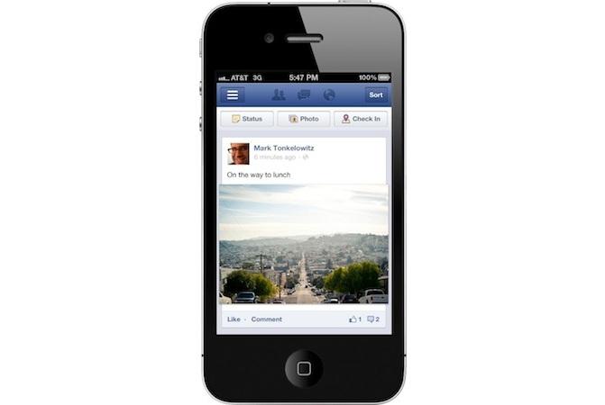 new facebook ios