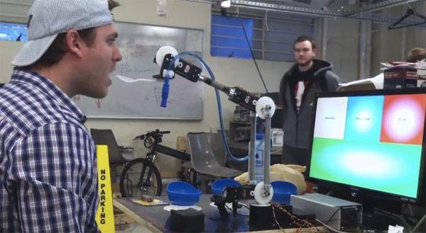Ajutor pentru hranire: bratul robotic controlat vizual