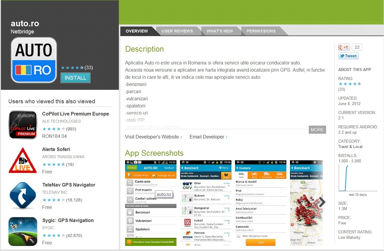 Auto.ro si-a lansat aplicatia pentru Android