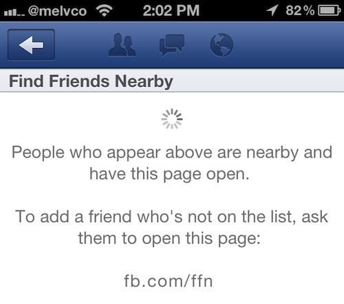 Facebook lanseaza Find Friends Nearby