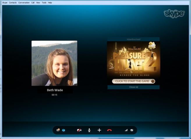 Skype reclama