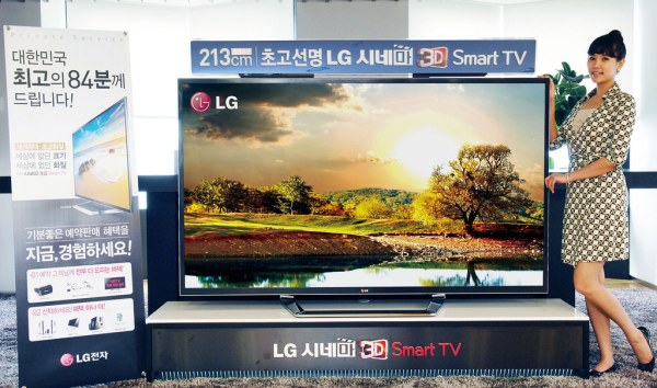 LG UHDTV 84 inci