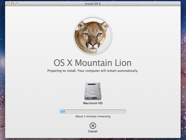 Apple a dat drumul la Mountain Lion exclusiv pe Mac App Store