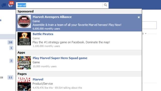 Facebook urmeaza ideea lui Google: introduce rezultate sponsorizate la căutare