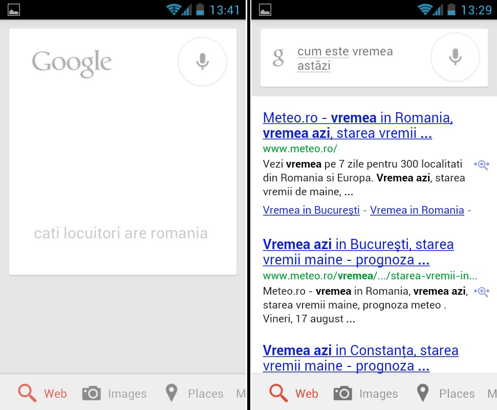 Google Voice Search acum si in romana