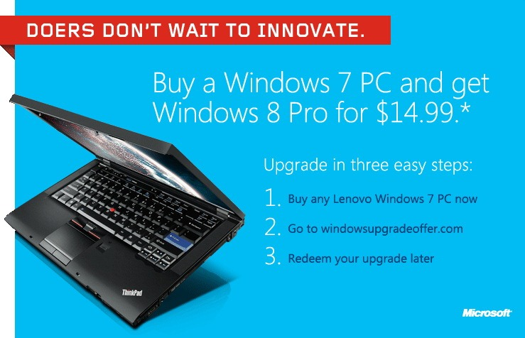 Microsoft a pornit campania de upgrade la Windows 8