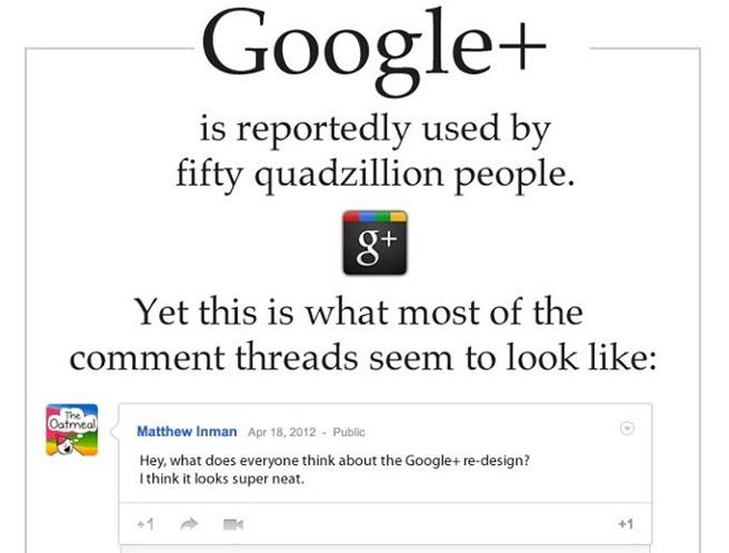 Google+ face glume cu The Oatmeal