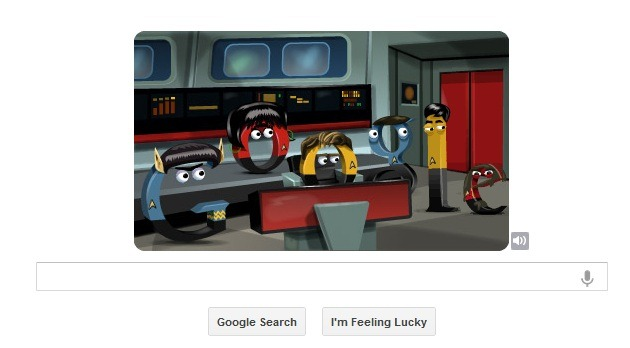 Un Google Doodle pentru fanii Star Trek