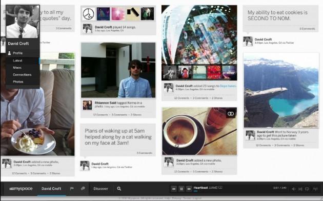 Noul design MySpace