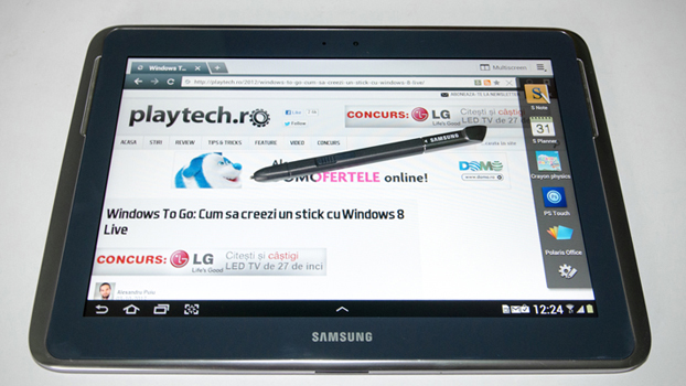 Samsung Galaxy Note 10.1 – Cu un stylus nu se face primavara [REVIEW]