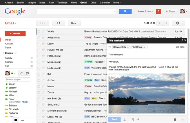 Google Gmail Compose email