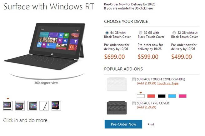 Microsoft surface preturi