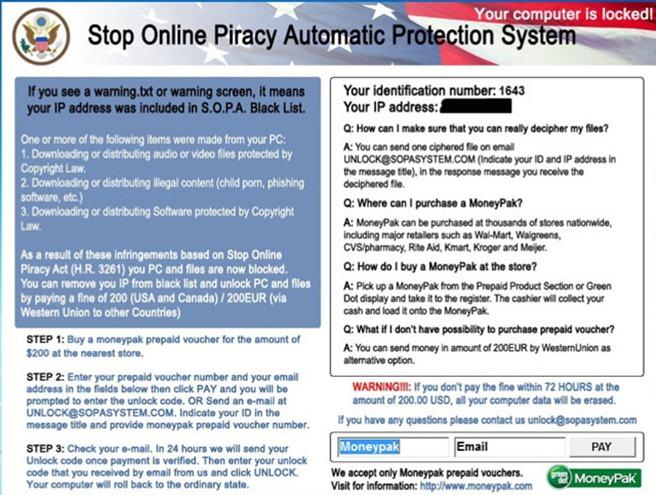 SOPA Virus malware