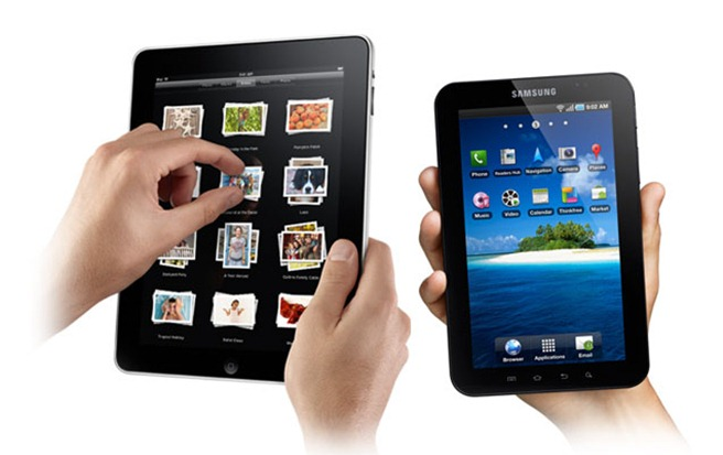Samsung Apple galaxy tab ipad