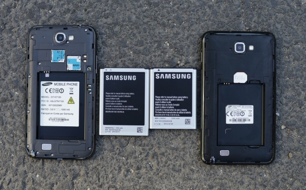 Samsung Galaxy Note 2 VS Samsung Galaxy Note 1 Baterie