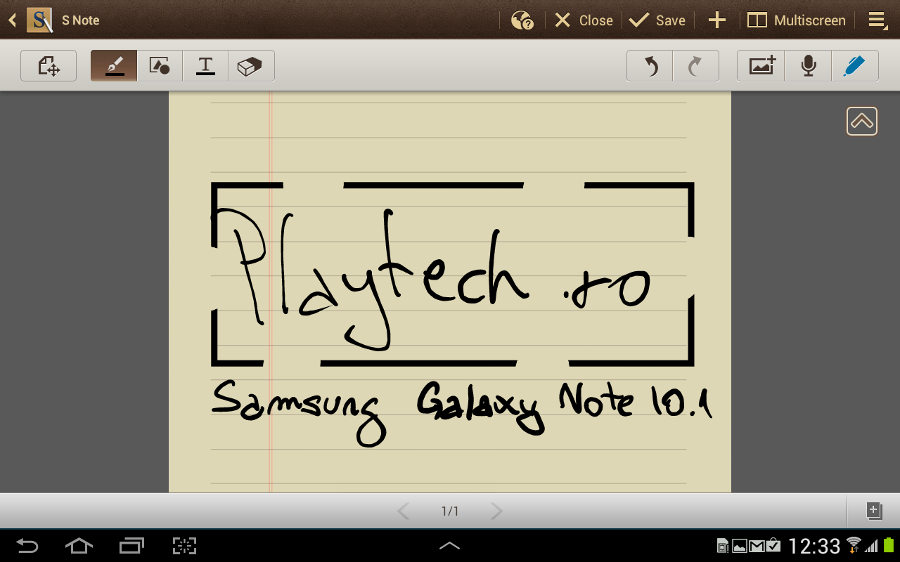 Samsung Galaxy Note 10.1 Snote