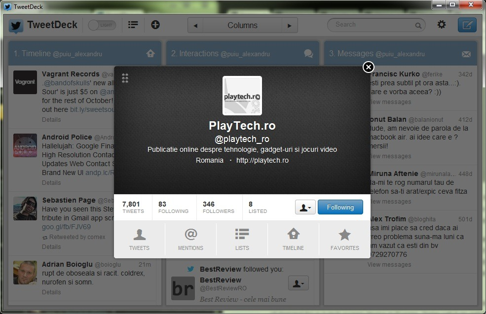 Tweetdeck beneficieaza de un update semnificativ