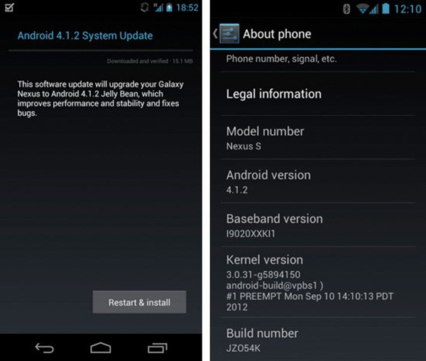 android 4.12 galaxy nexus s
