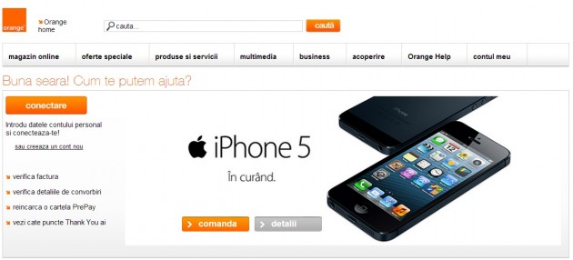 Preturi iPhone 5 la abonamentele Orange