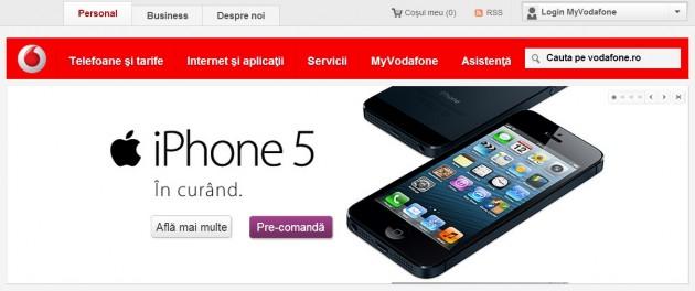 Preturi iPhone 5 la abonamentele Vodafone