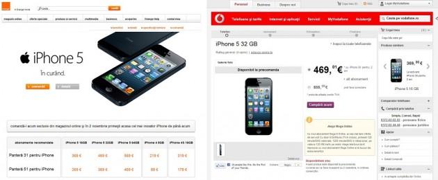 iPhone 5 la Operatori