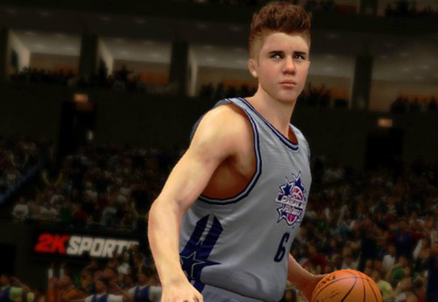 Fii Justin Bieber in NBA 2K13