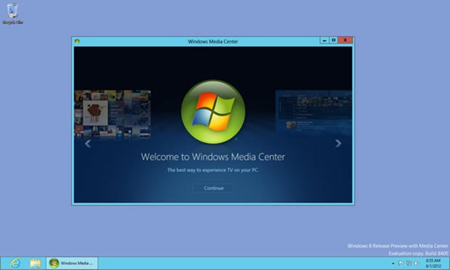 media center windows 8