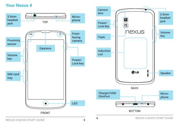 Manualul noului Nexus 4 ajunge pe internet