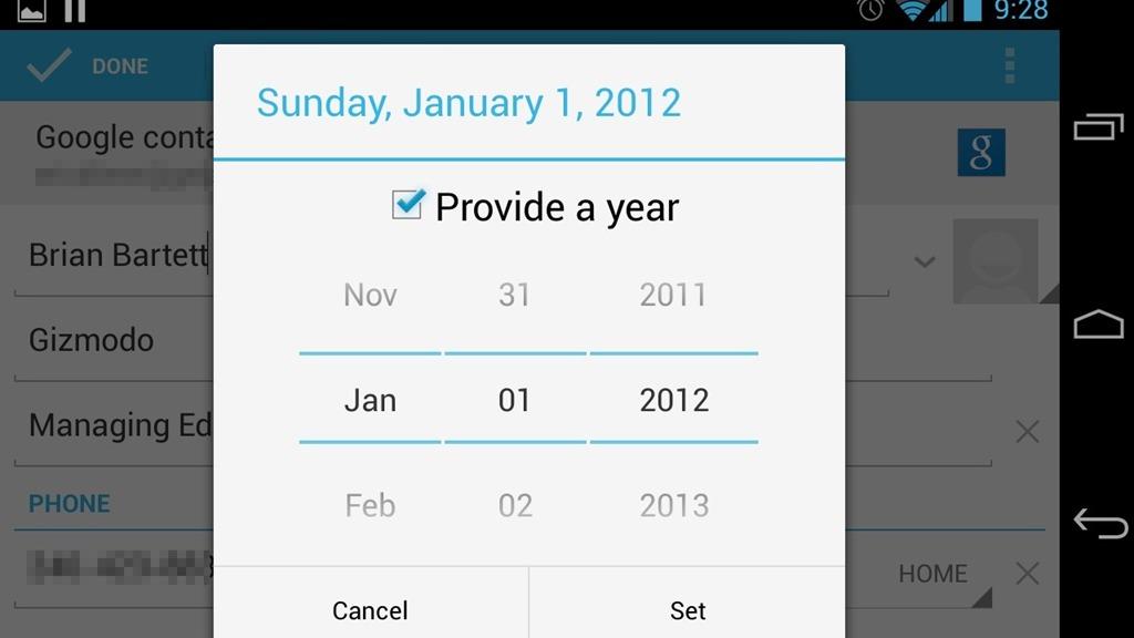 Pentru Android 4.2 calendarul are doar 11 luni