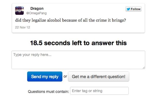 Asked It website pentru intrebari pe twitter