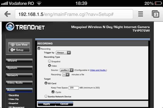 Configurare Trendnet IP572Wi 2