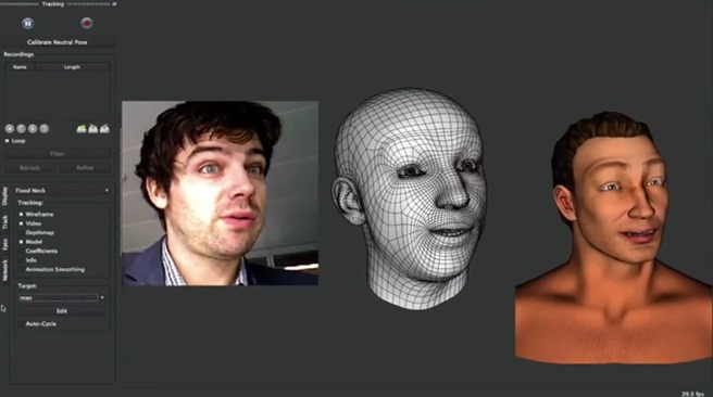 Microsoft Kinect Motion Capture Faceshift SDK