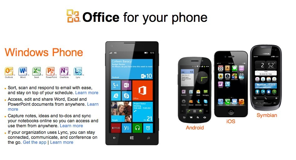 Microsoft Office ajunge pe iOS si Android… in curand