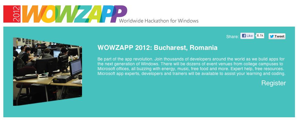 Mai sunt 3 zile pana la Wowzapp – Hackatlon-ul de Windows