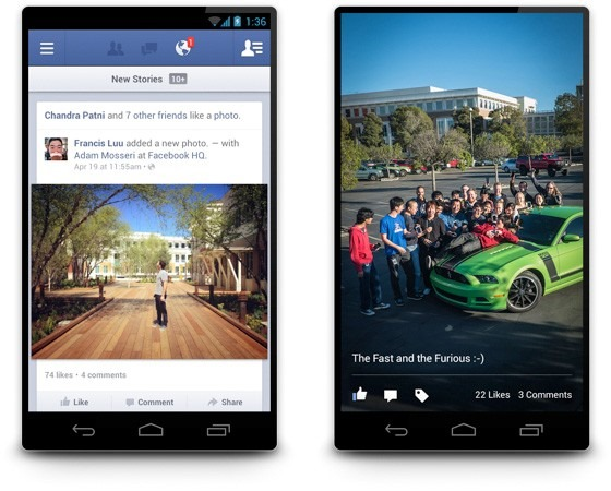 Facebook pentru Android ajunge la versiunea 2.0