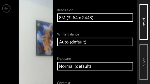 HTC 8X Interfata Camera Foto