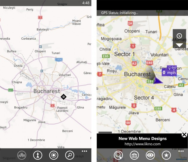 HTC 8X Maps
