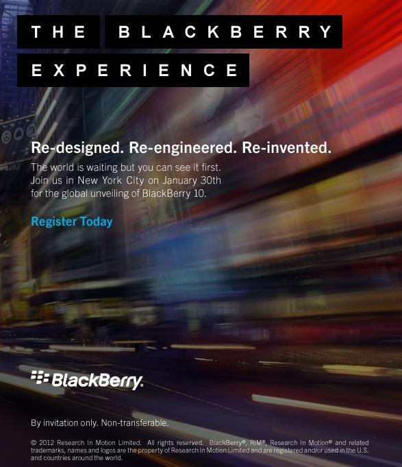 Lansare BlackBeryy 10 pe 30 Ianuarie 2013