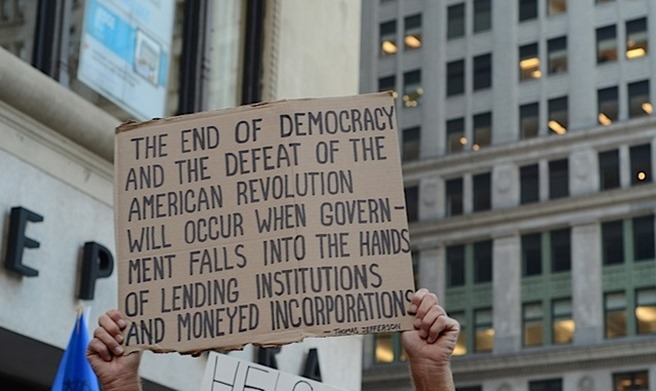 Occupy Wallstreet Twitter proces