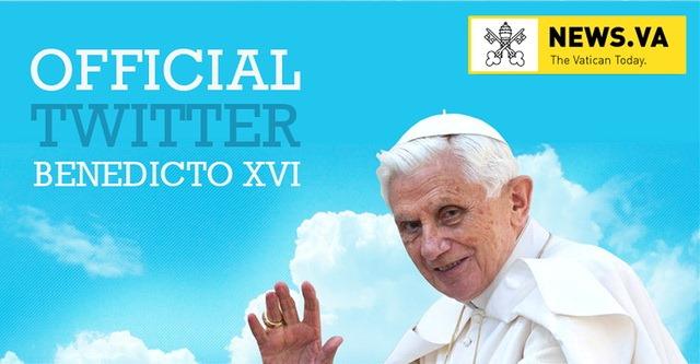 Papa de la Roma este primul pe Twitter, intr-un fel