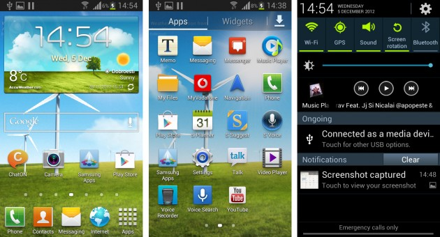Samsung Galaxy S3 Mini Meniuri