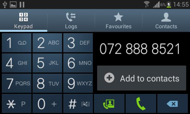 Samsung Galaxy S3 Mini Telefonie