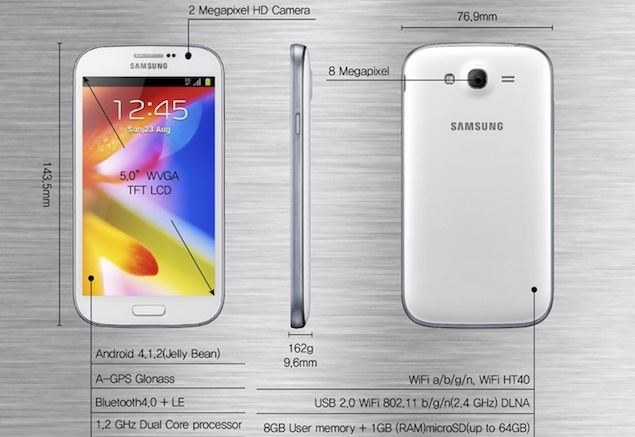 Specificatii Samsung Galaxy Grand