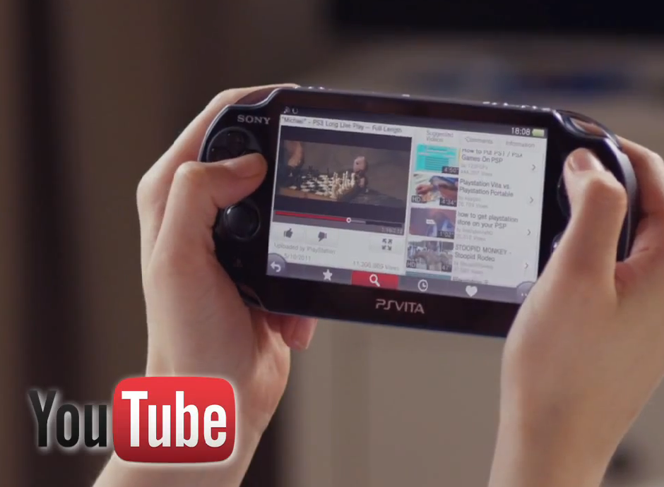 YouTube PlayStation Vita