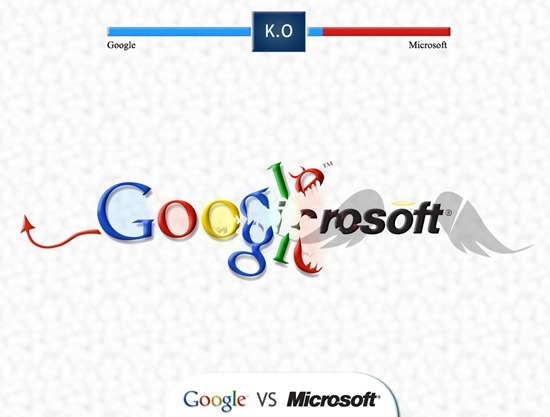 google VS microsoft aplicatii Windows 8