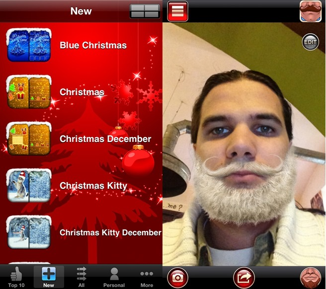 iTheme Xmas Edition Beardify iOS Android