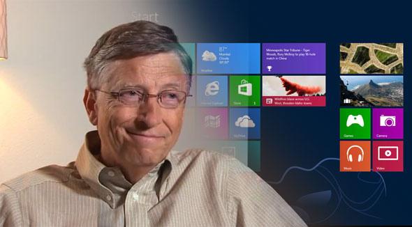 Bill Gates Windows 8 vanzari