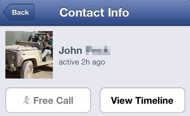 Facebook Voice Calls US