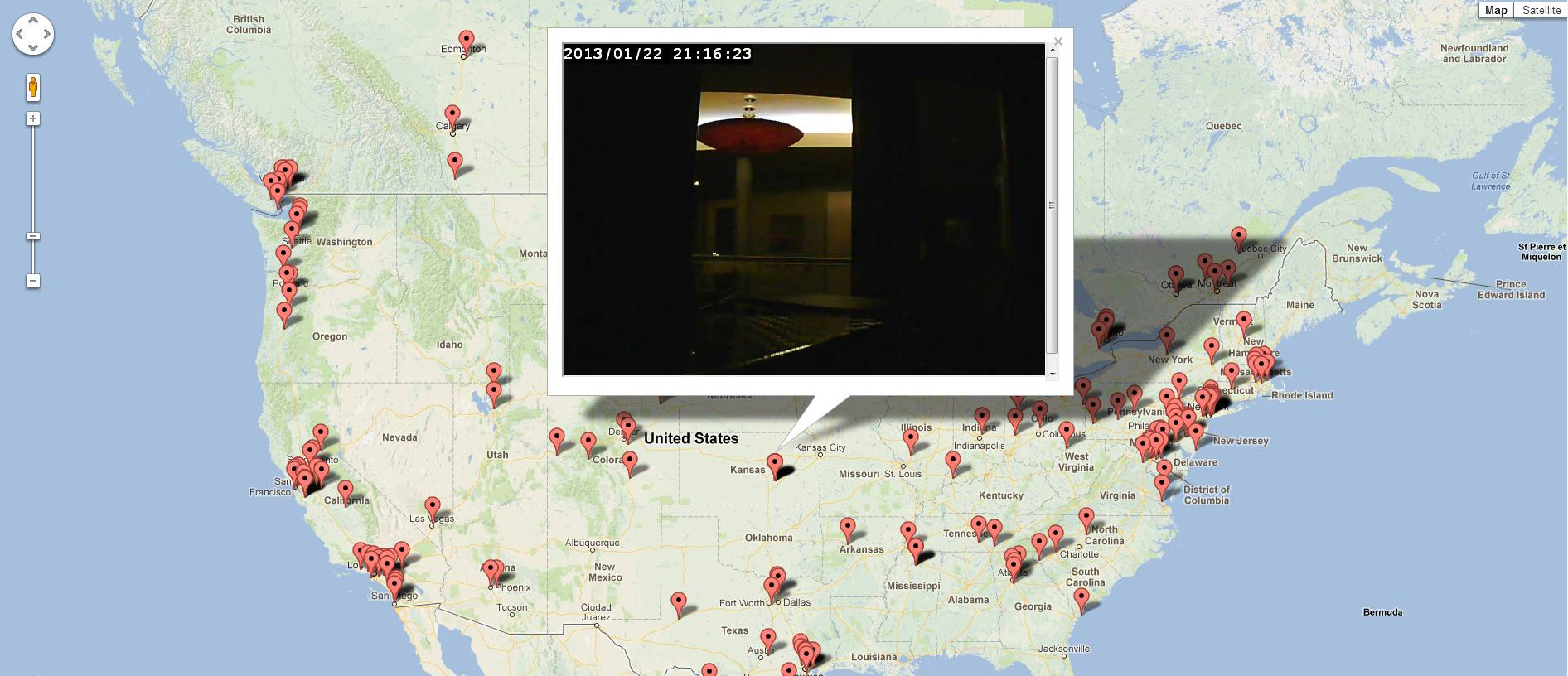 Harta online a camerelor IP nesecurizate!